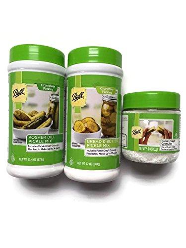 Ball Pickle Mix Kit Flex Batch: (1) Kosher Dill, (1) Bread & Butter & (1) Pickle Crisp Granules