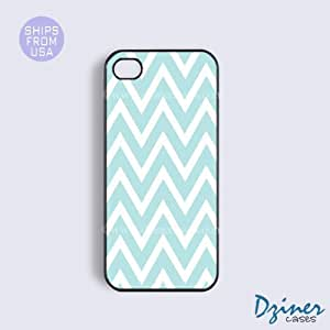 LJF phone case iphone 6 4.7 inch Case - Tiffany Blue Chevron iPhone Cover