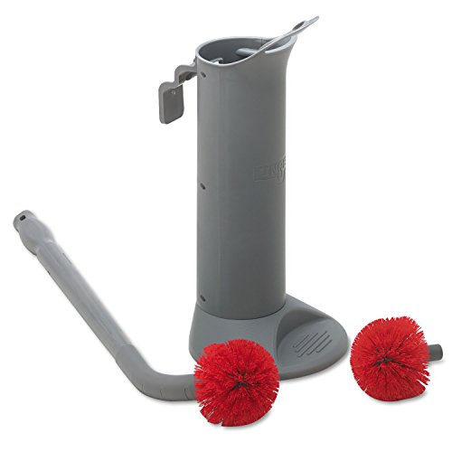 Unger BBWHR Ergo Toilet Bowl Brush Complete: Wand, Brush Holder & 2 Heads - Unger Ergonomic Broom