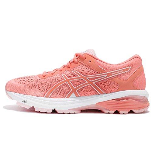 ASICS Women's GT-1000 6, Seashell Pink/Begonia Pink/White, 23.5 M US