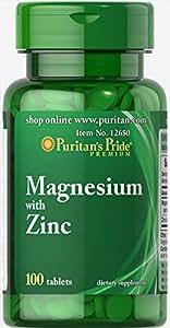 Magnesio con zinc 100 Comprimidos: Amazon.es: Salud y