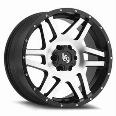 LRG Rims LRG111 Classico Satin Black Wheel with Machined Face (20x9