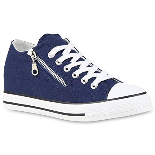 Stiefelparadies - Zapatillas Mujer Azul