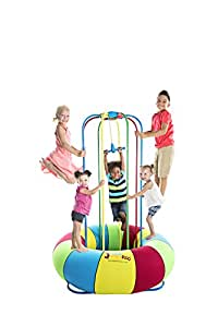 Jungle JumpaRoo - Kid's Love this Trampoline/Bounce House-like Play Set - Indoor/Outdoor Jungle Gym - Large