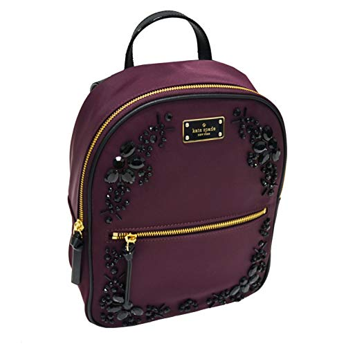 Kate Spade New York Wilson Road Embellished Small Bradley Backpack Purse (Deep Plum)