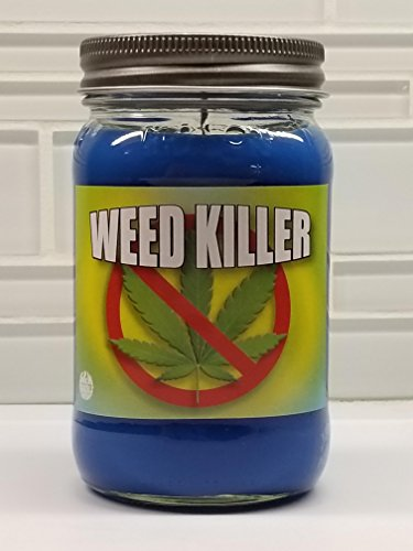 S&M Candle Factory 16oz Weed Killer Soy Odor Eliminating Candle (Removes Cannabis Weed Marijuana Smoke Smell) Soy Wax 16oz Candle. Non-Toxic ~ 100% Made in USA ()