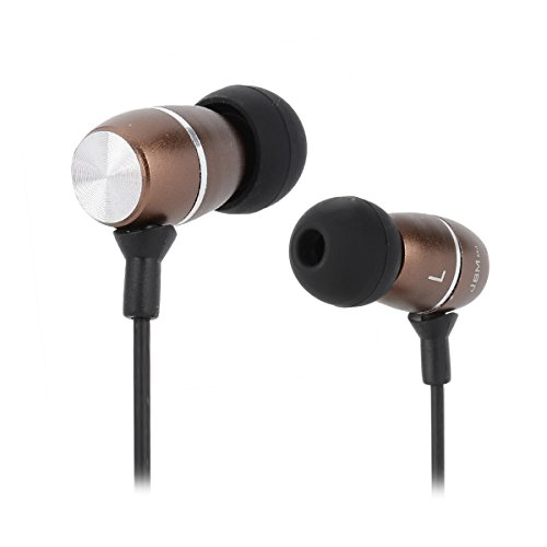 OLSUS MJ100 Stylish In-ear 3.5mm Round Head Connector Headset/Earphone - Brown + Black (120cm) (Ear In Heads Black)