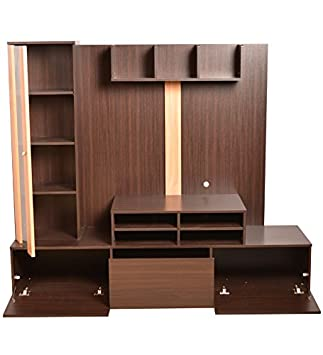 Hometown Hugo Engineered Wood TV Unit In Walnut & Teak Color