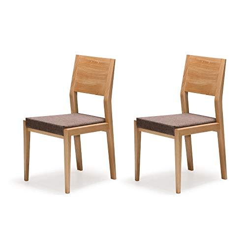 Alkove - Hayes - Set da 2 sedie per tavolo da pranzo in legno ...
