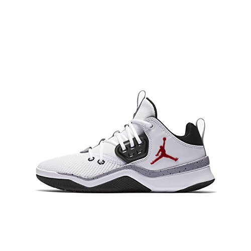 NIKE Jordan Youth DNA Mesh White Gym Red Black Trainers 4.5 US by NIKE