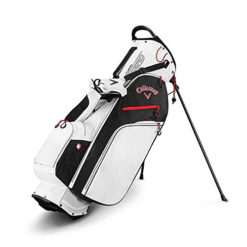 Black White Stand Bag - Callaway Golf 2019 Fusion Zero Stand Bag, White/Black/Red
