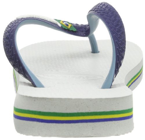 Havaianas Brasil Mix, Chanclas Unisex Adulto Azul (White/Navy Blue 0052)