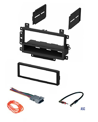 2000 Factory Radio - ASC Audio Car Stereo Radio Dash Kit, Wire Harness, and Antenna Adapter to Add a Single Din Radio for some Buick Chevrolet GMC Hummer Isuzu Oldsmobile Pontiac