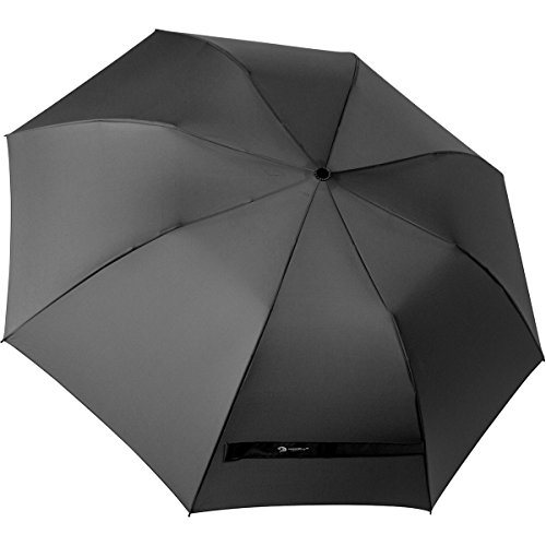 Procella Compact Golf Umbrella 52 Inch Large Auto Open, Windproof Waterproof, Strong Sturdy Foldable Portable, Oversized Compact & Lightweight Rain & Wind Resistant for Men & Women (Black)