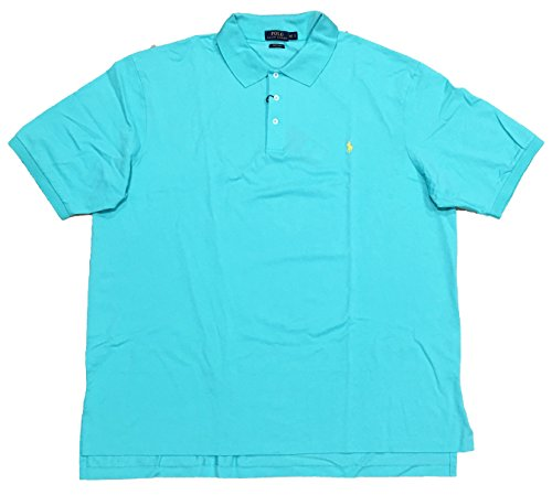 Polo Ralph Lauren Men's Classic Fit Stretch Mesh Big & Tall Polo Shirt (4XLT, Club Turquoise) (Mesh Polo Shirt Pima)