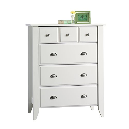 Sauder Shoal Creek 4-Drawer Dresser, Soft White finish
