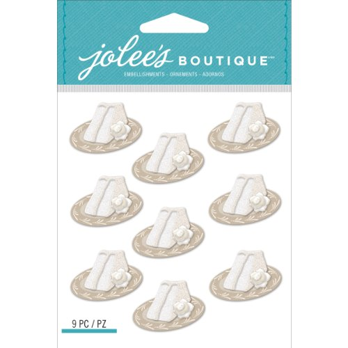 Jolee's Boutique Dimensional Stickers, Wedding Cake Slices Repeats
