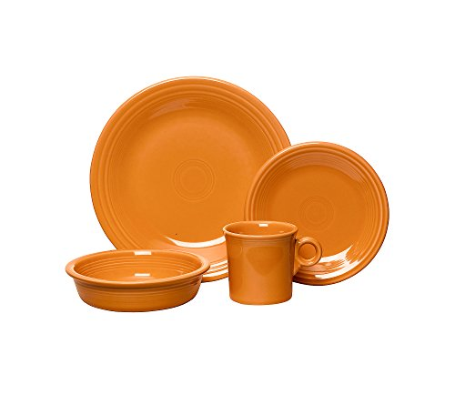 - Fiesta Dinnerware 4-pc. Place Setting Tangerine