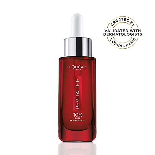 L'Oreal Paris Pure Glycolic Acid Face Serum Skin Care I Revitalift Derm Intensives 10% Pure Glycolic Acid Serum I Dark Spot Corrector To Even Tone & Reduce Wrinkles I 1.0 Oz