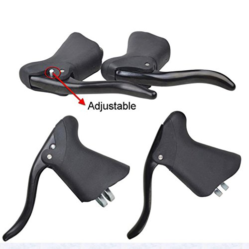 TOPCABIN 2pcs Bike Brake Lever for Road Bike Bicycle Metal Rubber Parts