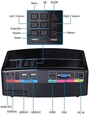 Ai LIFE Proyectores Proyector portátil Mini proyector LED de ...