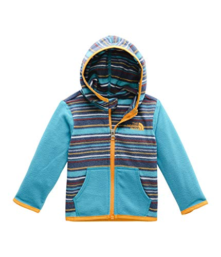 The North Face Kids Unisex Glacier Hoodie (Infant) Caribbean Sea Multi Thin Stripe Print 3-6 Months