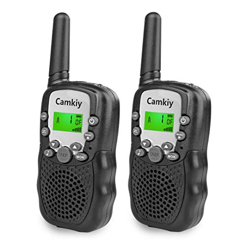 Kids Real Walkie Talkies for Boys Black Toy for Kids Age 4-11 Boys 2 Way Radio Toys Phone