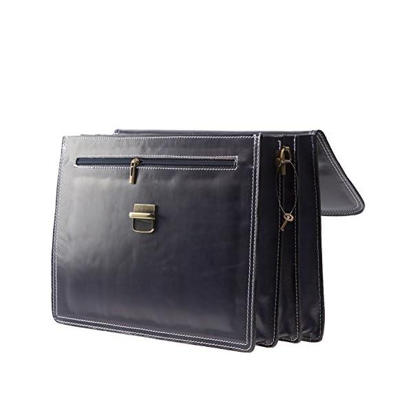 32d7607426b22b CTM Borsa Uomo BLU 24 ore porta documenti, 41x31x18cm, Vera Pelle ...