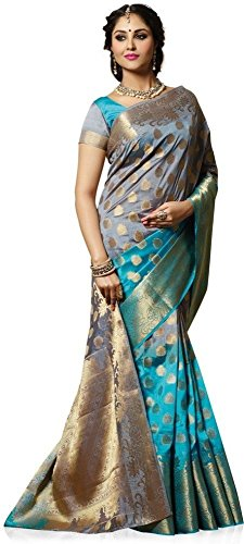 PRIYA FABS PARTY WEAR SAREE BOLLYWOOD BRIDAL KANCHEEPURAM SILK SARI - MG 42