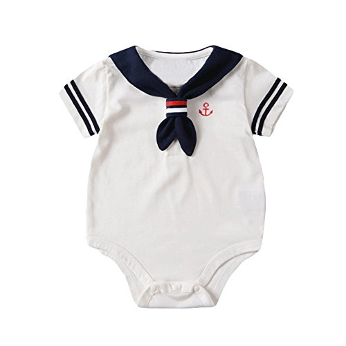 3f2cefd7fc Taiycyxgan Newborn Unisex Baby Rompers Girls Boys Nautical Sailor Jumpsuit  Bodysuit Outfit - Buy Online in KSA. Apparel products in Saudi Arabia. See  Prices ...