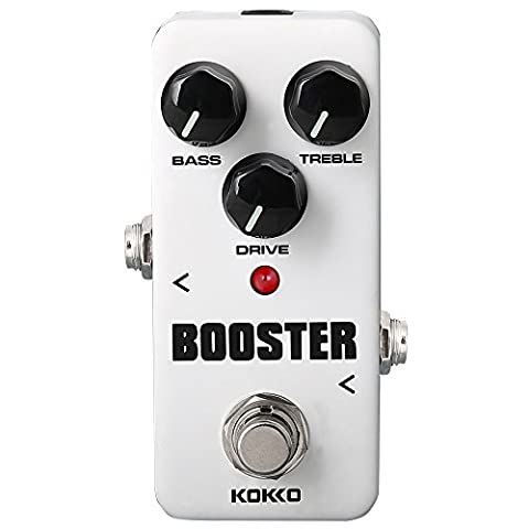 Booster Guitar Pedal, Mini Effect Processor Increase the Volume without Colored Sound Universal for Guitar and Bass - KOKKO (FBS2) (Bass Guitar Volume Pedal)