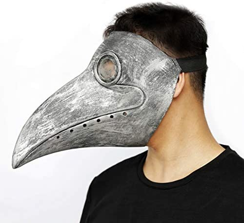 Black Bird Beak Steampunk Gas Costume PartyHop Plague Doctor Mask for Kid and Adult