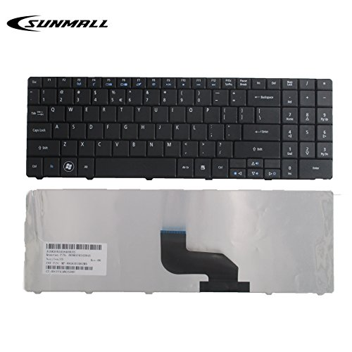 SUNMALL Keyboard Replacement for ACER Aspire 5516 5517 5532 7715 7715Z 5241 5541 5541G 5732Z 5334 5734 Emachines E525 E625 E627 E725 E527 E727 G420 G430 G525 Series Black US Layout(6 months warranty) (E525 Emachines Keyboard)