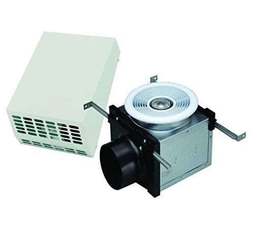 Fantech PBW110H ventilador de baño, rejilla de techo de montaje exterior con luz halógena regulable de 50 W, conducto de 4...