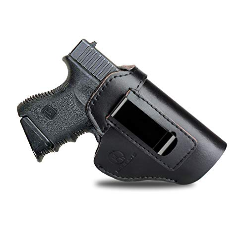 Kosibate IWB Leather Holster, Gun Holster for Glock 17 19 22 23 26 / Sig Sauer P226 P229 SP2022 / Springfield XD XDS XDM/S&W M&P Shiedld 9MM ()