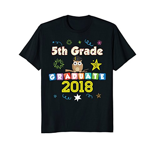 5th Grade Graduate Owl Graduation Fifth Nailed It T-Shirt (5th Grade Owl)