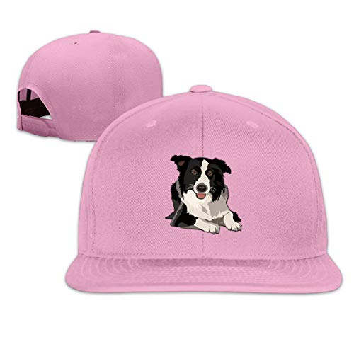 MOCSTONE Unisex Snapback Hat Border Collie Adjustable Baseball Cap
