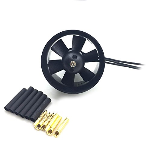 JFtech 4S Version 30mm Duct Fan with 5000KV Brushless Motor for RC Model Mini Ducted Fan EDF Jet Airplane ()