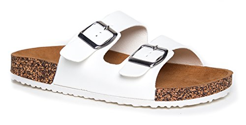 J. Adams Comfort Low Easy Slip On Sandal – Casual Cork Bottom Platform Sandal Flat – Trendy Open Toe Slide Shoe – Keri by