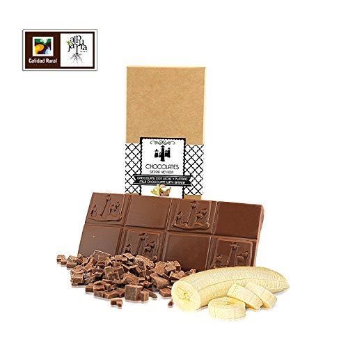 Chocolate con leche y plátano artesano