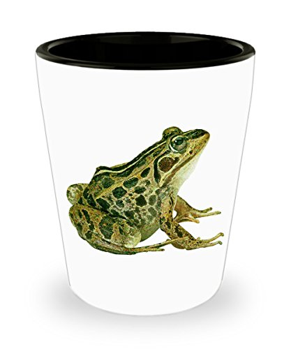 (Wildlife Shot Glass - Frog - ONE 1.5oz Ceramic Toothpick Holder for Hunters Animal Lovers Bar Gift)