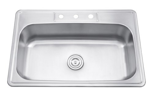 Universe Big single bowl kitchen sink 33'x22'-Overmount