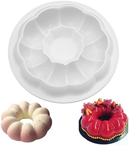 """7/"""" Wreath Donut Silicone Mold DIY Chocolate Cake Pie Cake Mold Chocolate Mould New"""