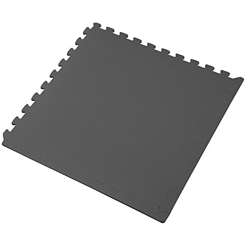 We Sell Mats Charcoal Grey 16 Square Ft (4 Tiles + Borders) Foam Interlocking Floor Square Tiles by We Sell Mats (Image #3)