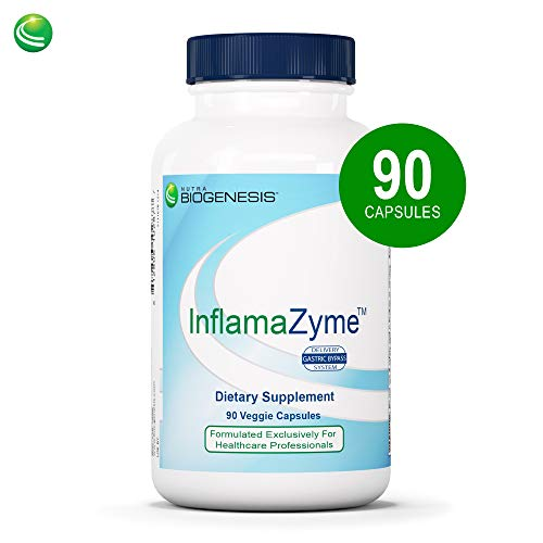 Nutra BioGenesis InflamaZyme – Pancreatin, Nattokinase and Trypsin to Help Support Healthy Immune Response, Joints and GI Tract – Gluten Free – 90 Capsules