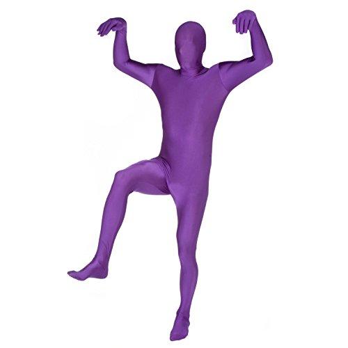 "Morphsuits Purple Original Costume - Size XLarge - 5""10-6""1 (176cm-185cm)"