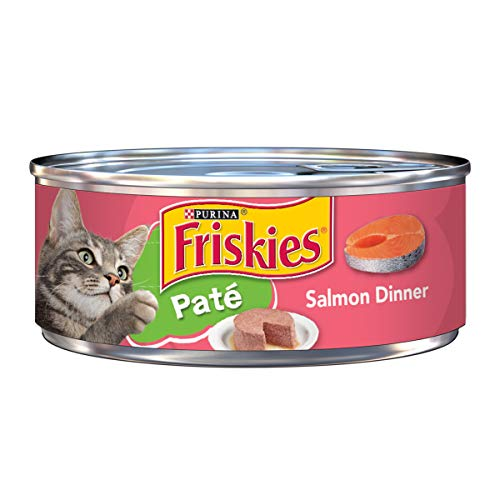 Discount Dishes China (Purina Friskies Pate Wet Cat Food; Salmon Dinner - 5.5 oz. Can)