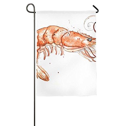 3D Shrimp Custom Spring Porch Garden Flags Polyester Fiber Stand 12x18 (Cuisine D'halloween)