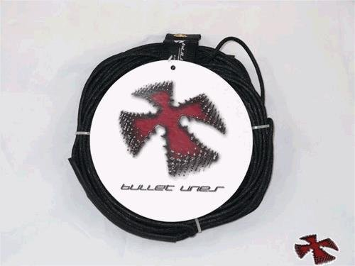 Bullet Lines 75' Power Core Wakeboard Rope- Dyneema Core Rope- Black by Bullet Lines