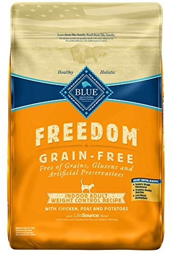 Blue Buffalo Freedom Grain Free Natural Indoor Weight Control Adult Dry Cat Food, Chicken 11-lb.
